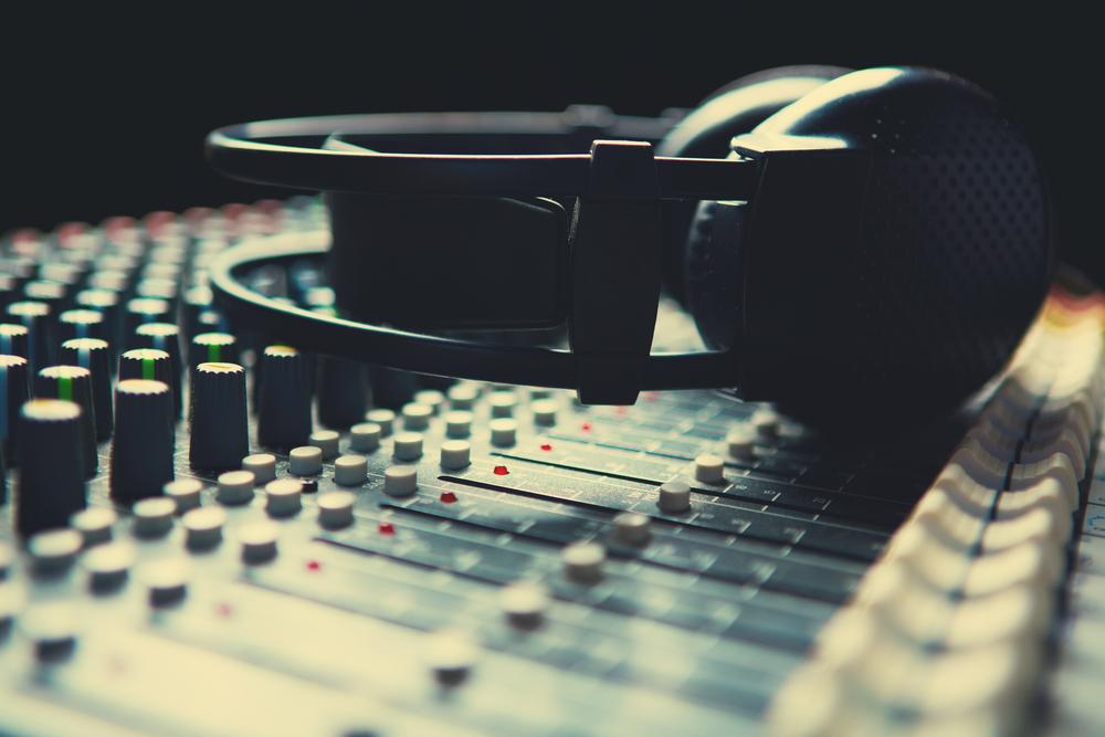 headphones laying on equipment