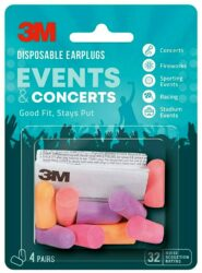 3M Disposable Earplugs for Events and Concerts