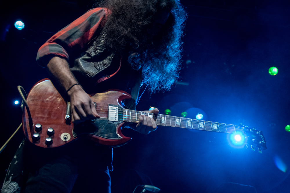 Gibson SG played live on stage
