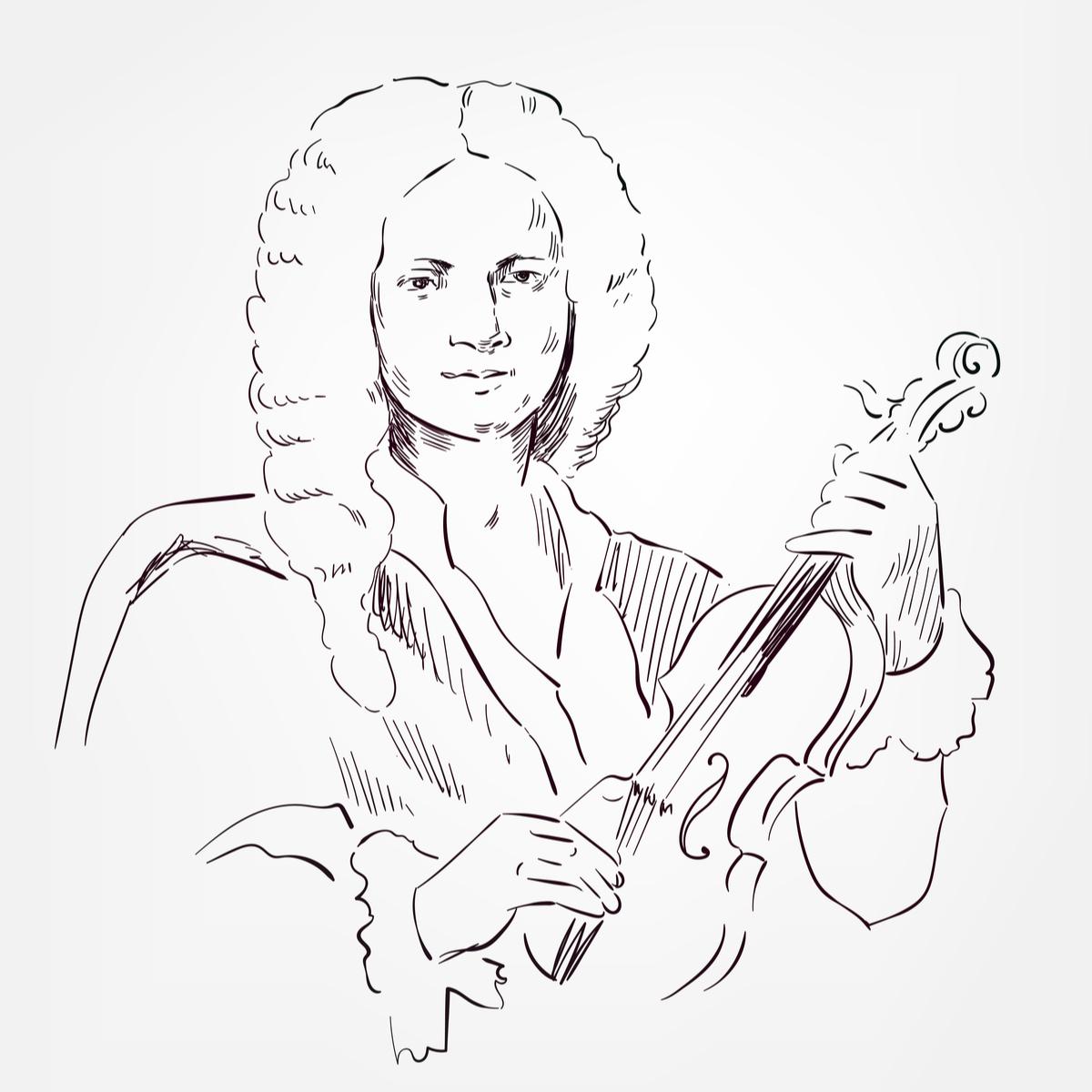 illustrated Vivaldi portrait