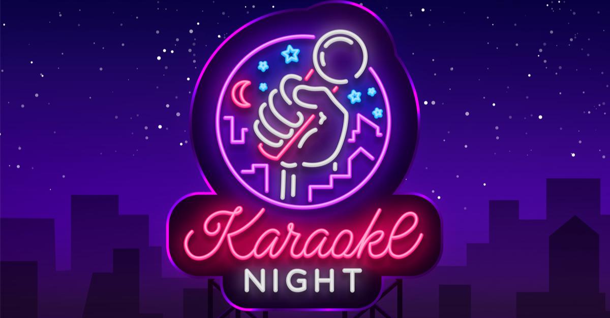 karaoke night sign